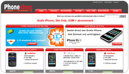 Screenshot Phoneshop.nl