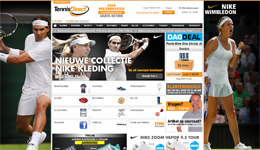 Screenshot TennisDirect.nl